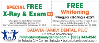 Special Free X-Ray And Exam