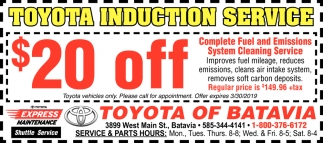 Toyota Induction Service