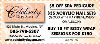$5 Off Spa Pedicure