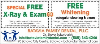 Special Free X-Ray & Exam