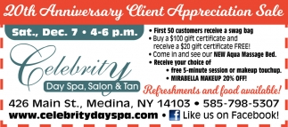 20th Anniversary Client Appreciation Sale